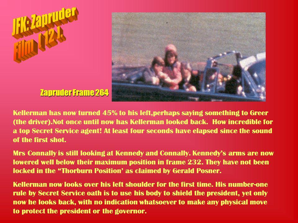 JFK: Zapruder Film [ 12 ]. Zapruder Frame 264